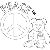 Peace-Bear-Coloring-Pages